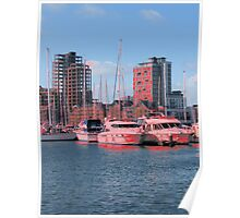 Touches Of Red, Ipswich Waterfront Poster