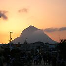 The Arenal at sunset by Fay  Hughes