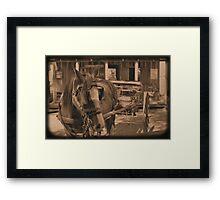 Saloon Taxi Framed Print