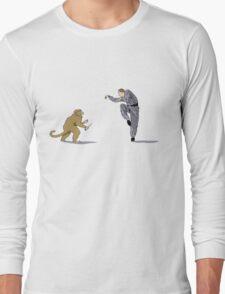 Monkey Fu with Knife (detail) Long Sleeve T-Shirt