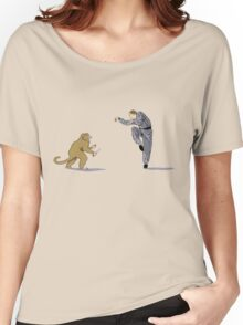 Monkey Fu with Knife (detail) Women's Relaxed Fit T-Shirt