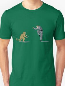 Monkey Fu with Knife (detail) Unisex T-Shirt