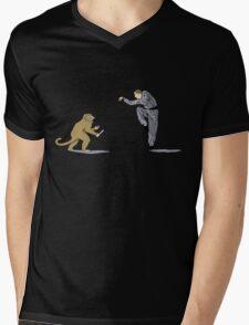 Monkey Fu with Knife (detail) Mens V-Neck T-Shirt