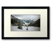 Here Be Snow Framed Print
