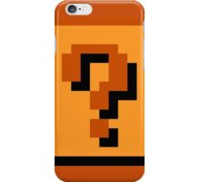 Mario Item Block  iPhone Case/Skin