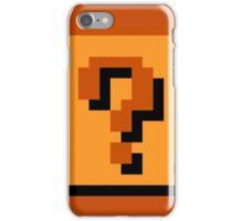 Mario Item Block  iPhone Case/Skin