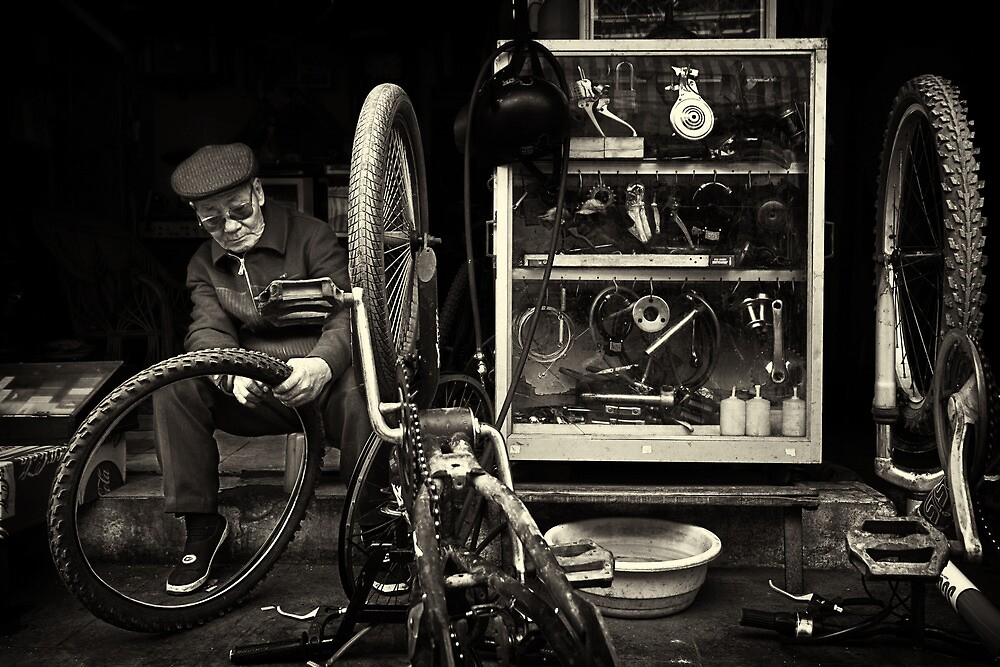 The Bicycle Man #0102 by Michiel de Lange