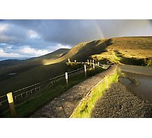 The Connor Pass rainbow Photographic Print