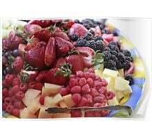 Beautiful Plate of Fresh Fruit  Poster
