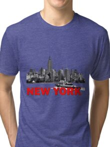 New York NYC River Police Tri-blend T-Shirt