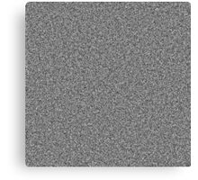 White Noise Pattern Canvas Print