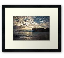 Indigo Hues Deepen as Daylight Wanes Framed Print