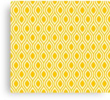 Modern Classic Yellow Pattern Canvas Print