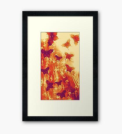 Burnt Orange Butterflies Framed Print