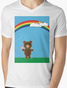 Cute Bear Mens V-Neck T-Shirt