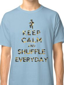 Keep Calm And Shuffle Everyday Leopard Classic T-Shirt