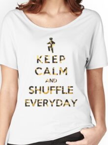 Keep Calm And Shuffle Everyday Leopard Women's Relaxed Fit T-Shirt