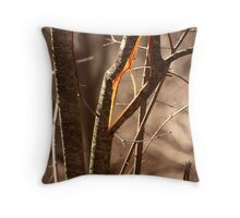 Saw Tree was 'Broke' this way Throw Pillow