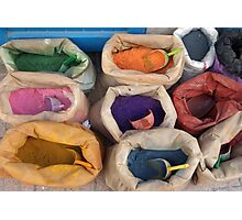 bags of colour Photographic Print
