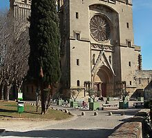 Beziers Cathedral Southern  France by Paul Pasco