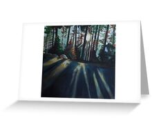 Light Rays Sequoia National Park Greeting Card