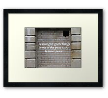 Path To Inner Peace Framed Print
