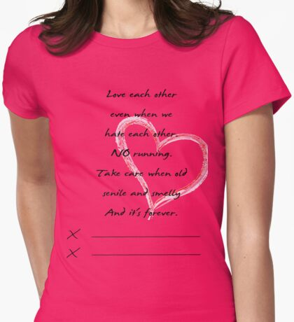 post-it Grey's Anatomy Womens Fitted T-Shirt