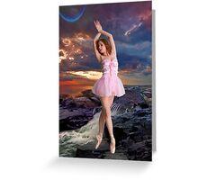 SUNSET BALLET Greeting Card