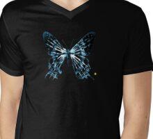 """Fringe Butterfly Glyph Letter """"P"""" Mens V-Neck T-Shirt"""