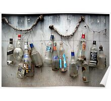 bottles on the wall Poster