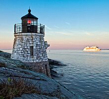 Castle Hill Light, New Castle, RI by Stephen Cross Photography