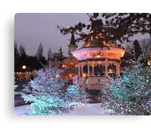 Christmas Bandstand Canvas Print