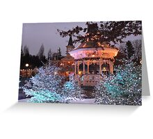 Christmas Bandstand Greeting Card
