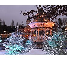 Christmas Bandstand Photographic Print