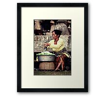 Klepon Cake Seller Framed Print