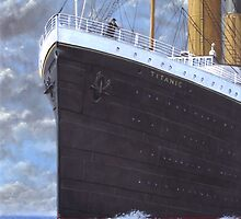 Titanic at sea full speed ahead by martyee