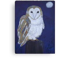 On The Hunt - Barn Owl Canvas Print