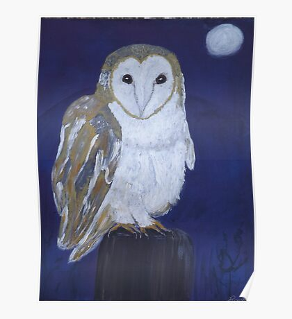 On The Hunt - Barn Owl Poster