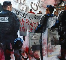 Protests in Paris Fragmented by Danielle Klebes