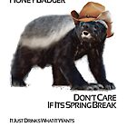 Honey Badger Don't Care its Spring Break by designerjenb