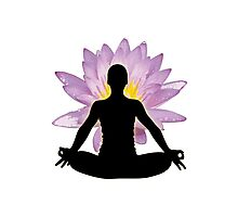 Yoga Lotus Pose - Meditation  Photographic Print