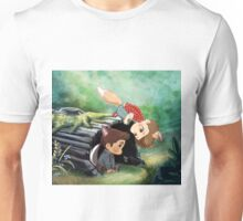 The Foxy and the Puppyish Unisex T-Shirt