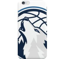 Timberwolves basketball howling iPhone Case/Skin