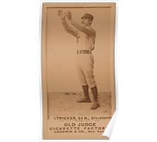 Benjamin K Edwards Collection Cub Stricker Cleveland Blues Spiders and Infants baseball card portrait Poster