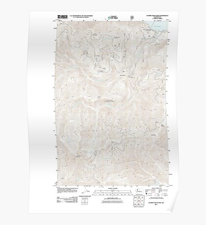 USGS Topo Map Washington State WA Stormy Mountain 20110601 TM Poster