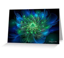 Peacock Bloom Greeting Card
