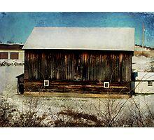 Barn along the way Photographic Print