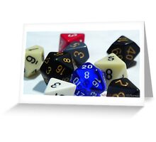 RPG Dices Greeting Card