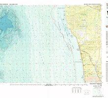 USGS Topo Map Washington State WA Copalis Beach 240666 1980 100000 by wetdryvac