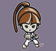 Martial Arts/Karate Girl - Front punch Kids Clothes